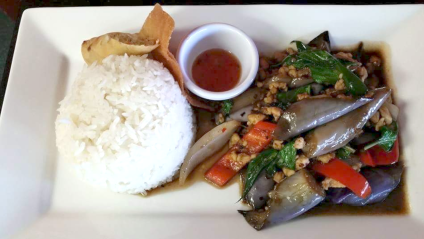 Oros Thai_Spicy Eggplant _authentic Thai food